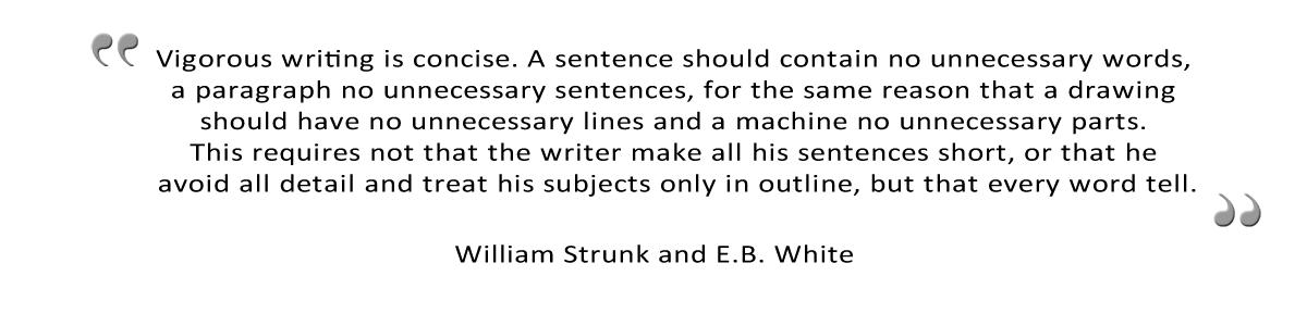 vigorous writing is concise